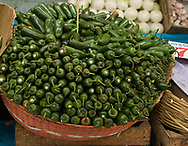 Jalapeno peppers in a Puebla Mexico Market