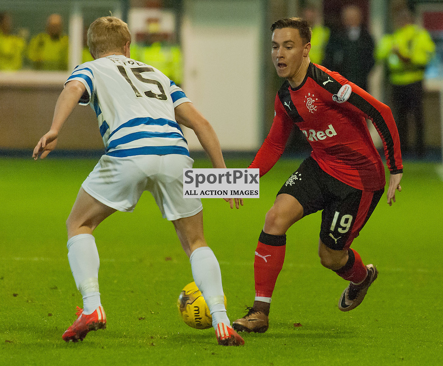 #15 Conor Pepper (Greenock Morton) and #19 Barrie McKay (Rangers) • Greenock Morton v Rangers • Ladbrokes Championship • 25 January 2016• © Russel Hutcheson | SportPix.org.uk