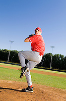 Baseball Pitcher Throwing a Pitch