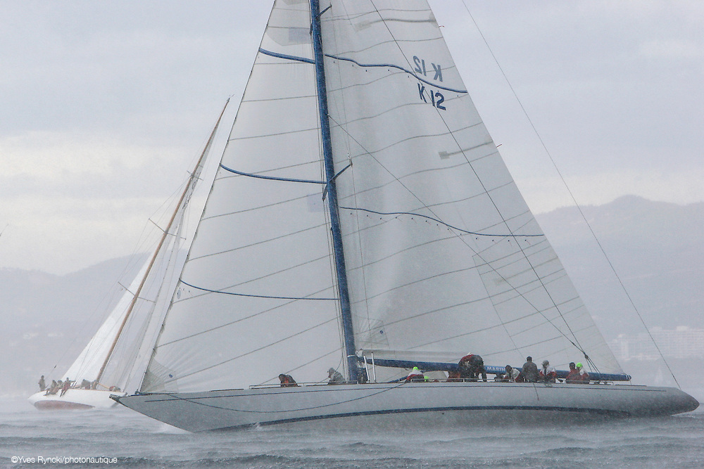 Sovereign K12, voile, grain, pluie, grèle, 12M, Jauge internationale,Régate Royales