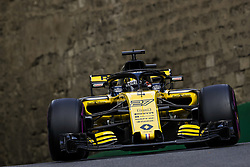 April 28, 2018 - Baku, Azerbaijan - HULKENBERG Nico (ger), Renault Sport F1 Team RS18, action during the 2018 Formula One World Championship, Grand Prix of Europe in Azerbaijan from April 26 to 29 in Baku  (Credit Image: © Hoch Zwei via ZUMA Wire)