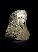 Limestone bust of a woman from Palmyra, Syria. Roman 80-120 AD