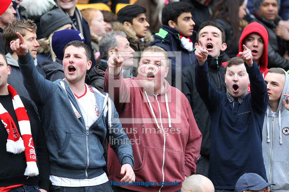 The Nottingham Forest fans during the Sky Bet Championship match at Carrow Road, Norwich<br /> Picture by Paul Chesterton/Focus Images Ltd +44 7904 640267<br /> 21/03/2015