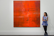UNITED KINGDOM, London: 09 April 2018  'Abstraktes Bild' by Gerhard Richter, valued at $15-20 Million at the Impressionist and Modern and Contemporary Art preview. The Impressionist and Modern art sale will be held in New York on 14th May. Sotheby's Impressionist and Modern Art Sale, London, UK- 9 Apr 2018 Rick Findler / Story Picture Agency