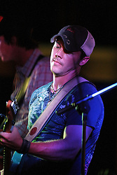 11 July 2012:  Dustin Reynolds of Brushfire Band perform a concert on the concourse of the Corn Crib Stadium at Heartland Community College in Normal IL