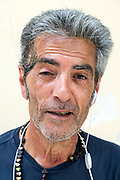 portrait of adult man after skin cancer recovery Naples Italy