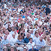 July 17, 2012 - New York, NY : Concertgoers listen as the New York Philharmonic performs in Central Park on Monday evening. CREDIT: Karsten Moran for The New York Times **This image is a crop variation, there is a full frame version of this image available.**