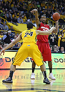 January 27, 2010: Ohio State guard/forward David Lighty (23) points to a spot as Iowa forward Aaron Fuller (24) defends during the first half of their game at Carver-Hawkeye Arena in Iowa City, Iowa on January 27, 2010. Ohio State defeated Iowa 65-57.