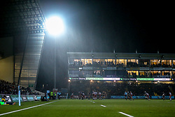 Rain pours down on the action at Sixways Stadium during Worcester Warriors v Northampton Saints - Mandatory by-line: Robbie Stephenson/JMP - 21/12/2018 - RUGBY - Sixways Stadium - Worcester, England - Worcester Warriors v Northampton Saints - Gallagher Premiership