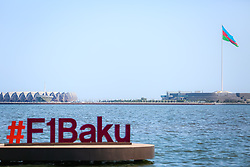 June 19, 2017 - Baku, Azerbaijan - The preparation for the Formula One competition in Baku are underway as more and more constructions are being built in the center of the Azerbaijani capital. It is scheduled to host the second Baku European Grand Prix on June 23rd. On Monday, June 19, 2017 in Baku, Azerbaijan. (Credit Image: © Aziz Karimov/Pacific Press via ZUMA Wire)