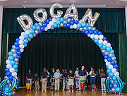 Students perform during dedication ceremony at Dogan Elementary School, September 29, 2014.