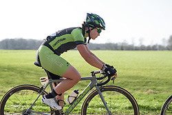 Rachele Barbieri at Drentse 8 2017. A 143 km road race on March 12th 2017, starting and finishing in Dwingeloo, Netherlands. (Photo by Sean Robinson/Velofocus)