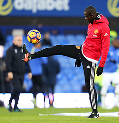 Eric Bailly of Manchester United warms up - Mandatory by-line: Matt McNulty/JMP - 04/12/2016 - FOOTBALL - Goodison Park - Liverpool, England - Everton v Manchester United - Premier League