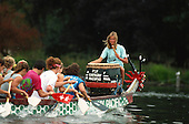 198710 Dragon Boats, Serpentine Lake, London, GREAT BRITAIN