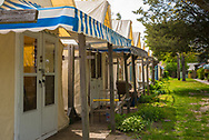 Ocean Grove, NJ USA -- May 12, 2017 -- Tent houses are set up for the summer season in Ocean Grove, NJ.