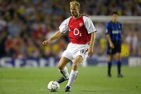 Fotball<br /> UEFA Champions League 2003/2004<br /> Arsenal v Inter<br /> 17.09.2003<br /> NORWAY ONLY<br /> Foto: Digitalsport<br /> <br /> FOOTBALL - CHAMPIONS LEAGUE 2003/04 - 1ST ROUND - GROUP B - 030917 - ARSENAL FC v FC INTERNAZIONALE - DENNIS BERGKAMP (ARS) - PHOTO LAURENT BAHEUX