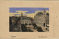 Zagreb : Preradovićev trg. <br /> <br /> ImpresumBp. [Budimpešta] : W. L., [1919].<br /> Materijalni opis1 razglednica : tisak ; 8,9 x 14 cm.<br /> Mjesto izdavanjaBudimpešta<br /> Vrstavizualna građa • razglednice<br /> ZbirkaZbirka razglednica • Grafička zbirka NSK<br /> Formatimage/jpeg<br /> PredmetZagreb –– Trg Petra Preradovića<br /> SignaturaRZG-PRER-3<br /> Obuhvat(vremenski)20. stoljeće<br /> NapomenaRazglednica je putovala 1919. godine.<br /> PravaJavno dobro<br /> Identifikatori000953946<br /> NBN.HRNBN: urn:nbn:hr:238:871685 <br /> <br /> Izvor: Digitalne zbirke Nacionalne i sveučilišne knjižnice u Zagrebu