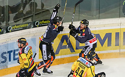 10.12.2017, Albert Schultz Halle, Wien, AUT, EBEL, UPC Vienna Capitals vs Dornbirner Eishockey Club, 27. Runde, im Bild Torjubel Dornbirner Eishockey Club // during the Erste Bank Icehockey League 27th round match between UPC Vienna Capitals and Dornbirner Eishockey Club at the Albert Schultz Halle in Vienna, Austria on 2017/12/10. EXPA Pictures © 2017, PhotoCredit: EXPA/ Alexander Forst