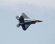 F-22A Raptor over Beale Air Force Base, CA.