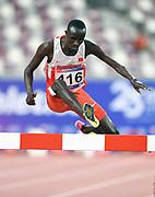 John Koech (BRN) wins the steeplechase in 8:25.87 during the Asian Athletics Championships in Doha, Qatar, Saturday, April,21, 2019. (Jiro Mochizuki/Image of Sport)