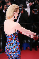 Actress Nicole Kidman reaches out to husband Keith Urban at the The Coen brother's new film 'Inside Llewyn Davis' red carpet gala screening at the Cannes Film Festival Sunday 19th May 2013