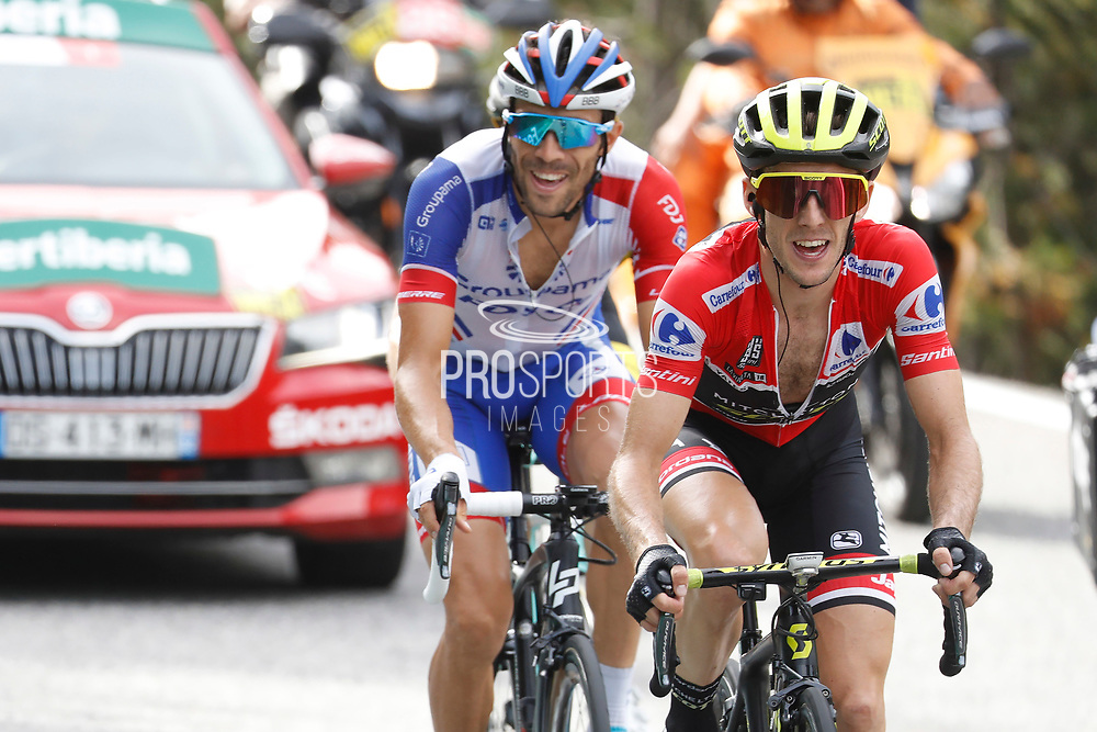 Simon Yates (GBR - Mitchelton - Scott) - Thibaut Pinot (FRA - Groupama - FDJ) during the 73th Edition of the 2018 Tour of Spain, Vuelta Espana 2018, 19th stage Lleida - Andorra 154,4 km on September 14, 2018 in Spain - Photo Luca Bettini / BettiniPhoto / ProSportsImages / DPPI