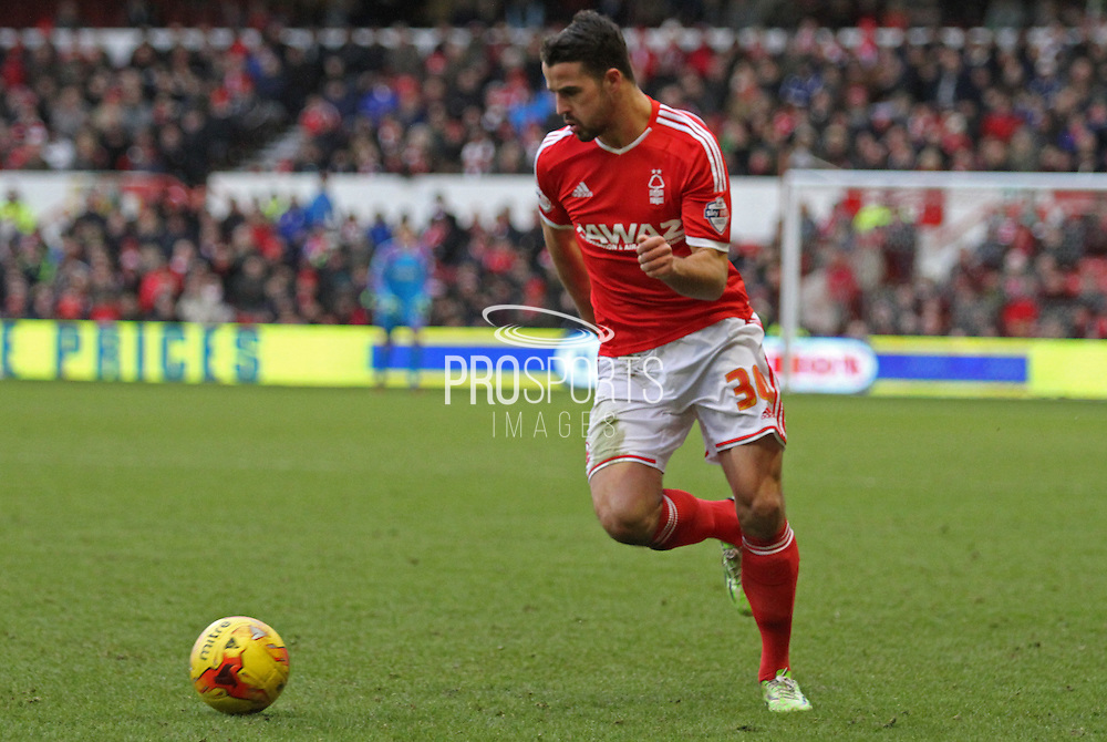 Stephen McLaughlin during the Sky Bet Championship match between Nottingham Forest and Millwall at the City Ground, Nottingham, England on 31 January 2015. Photo by Jodie Minter.