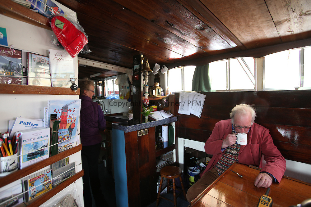 Photo Essay - The Vic 32 a Clyde Puffer,one  the last Coal fired steam boat, run by the Puffer Preservation Trust. This vessel was made famous in the Ealing Comedy 'The Maggie' and a similar vessel brought life aboard alive as part of Para Handy's Tales by Neil Munro. <br /> <br /> The vessel usually resides on the West Coast but makes an Annual trip up the Clyde to Glasgow. <br /> Skipper Nick Walker