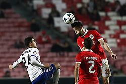 December 5, 2017 - Lisbon, Portugal - Benfica's forward Pizzi (R) vies for the ball with Basel's forward Mohamed Elyounoussi (L)  during Champions League 2017/18 match between SL Benfica vs FC Basel, in Lisbon, on December 5, 2017. (Credit Image: © Carlos Palma/NurPhoto via ZUMA Press)