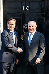 © Licensed to London News Pictures. 10/09/2015. London, UK. Prime Minister David Cameron meets Israeli Prime Minister Benjamin Netanyahu in Downing Street, London on Thursday, September 10, 2015. Photo credit: Tolga Akmen/LNP