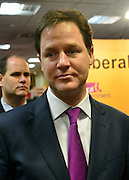 © Licensed to London News Pictures. 09/03/2013. Brighton, UK. Leader of the Liberal democrats and Deputy Prime Minister Nick Clegg at the Liberal Democrat Spring Conference in Brighton today 9th March 2013. Photo credit : Stephen Simpson/LNP