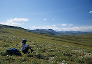 Mt. McKinley, Mount McKinley, Park Visitor, Hiking, Backpacking, Hike, Walk, Walking, Backpacker,  Denali National Park, Alaska