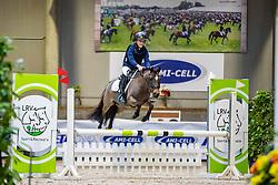 Van Raemdonck Florian, BEL, Makker van den Hoek<br /> Nationaal Indoor Kampioenschap Pony's LRV <br /> Oud Heverlee 2019<br /> © Hippo Foto - Dirk Caremans<br /> 09/03/2019