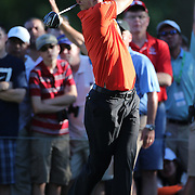 Morgan Hoffmann, USA, in action during the fourth round of theThe Barclays Golf Tournament at The Ridgewood Country Club, Paramus, New Jersey, USA. 24th August 2014. Photo Tim Clayton