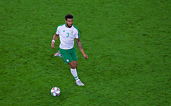 CARDIFF, WALES - Thursday, September 6, 2018: Republic of Ireland's Cyrus Christie during the UEFA Nations League Group Stage League B Group 4 match between Wales and Republic of Ireland at the Cardiff City Stadium. (Pic by Laura Malkin/Propaganda)
