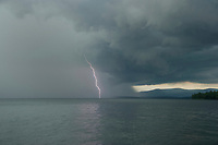 Lighting storm moving across Lake Winnipesaukee.  Karen Bobotas for the Laconia Daily Sun