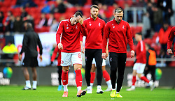 Josh Brownhill and Andi Weimann of Bristol City prior to kick-off-Mandatory by-line: Nizaam Jones/JMP - 18/01/2020 - FOOTBALL - Ashton Gate - Bristol, England - Bristol City v Barnsley - Sky Bet Championship