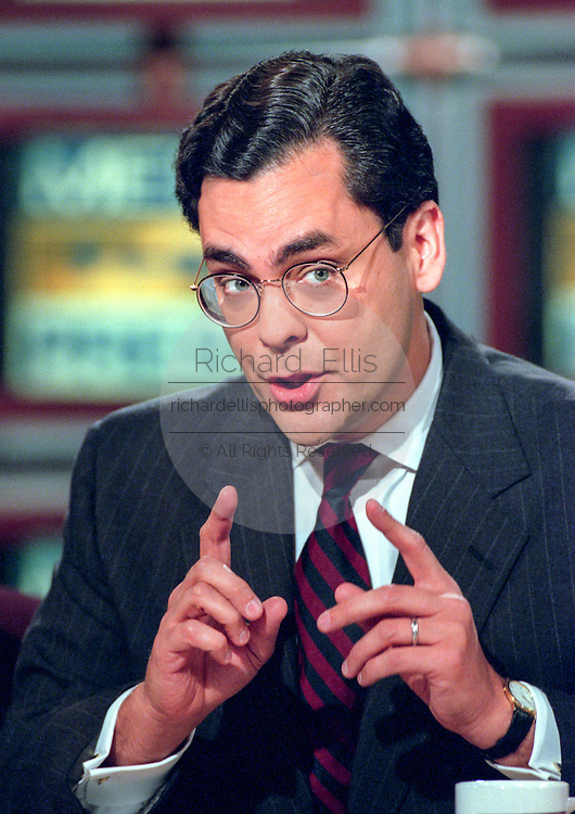 George Washington University Law Professor Jonathan Turley, discusses the Starr report September 13, 1998 during NBC's Meet the Press in Washington, DC.