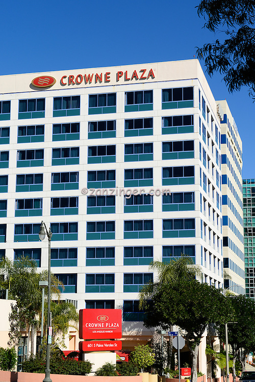 Crowne Plaza Los Angeles Harbor Hotel, Long Beach, Ca. San Pedro CA, Architectural, Glass, Office Buildings, Building, Southern California, USA