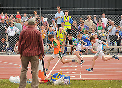 Action from the sprint finals at the Mayo Commmunity Games finals in Claremorris.<br /> Pic Conor McKeown
