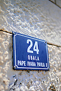 Street sign in Dubrovnik, Croatia