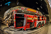 Fire Engine from Ladder Company 3 from Ground Zero, National September 11 Memorial & Museum, New York, New York USA.