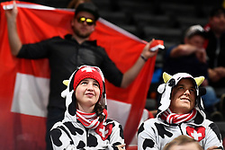 06.05.2017, AccorHotels Arena, Paris, FRA, IIHF WM 2017, Schweiz vs Slowenien, Gruppe B, im Bild Fans Schweiz // during the group B match of 2017 IIHF World Championship between Switzerland and Slovenia at the AccorHotels Arena in Paris, France on 2017/05/06. EXPA Pictures © 2017, PhotoCredit: EXPA/ Freshfocus/ Urs Lindt<br /> <br /> *****ATTENTION - for AUT, SLO, CRO, SRB, BIH, MAZ, ITA only*****