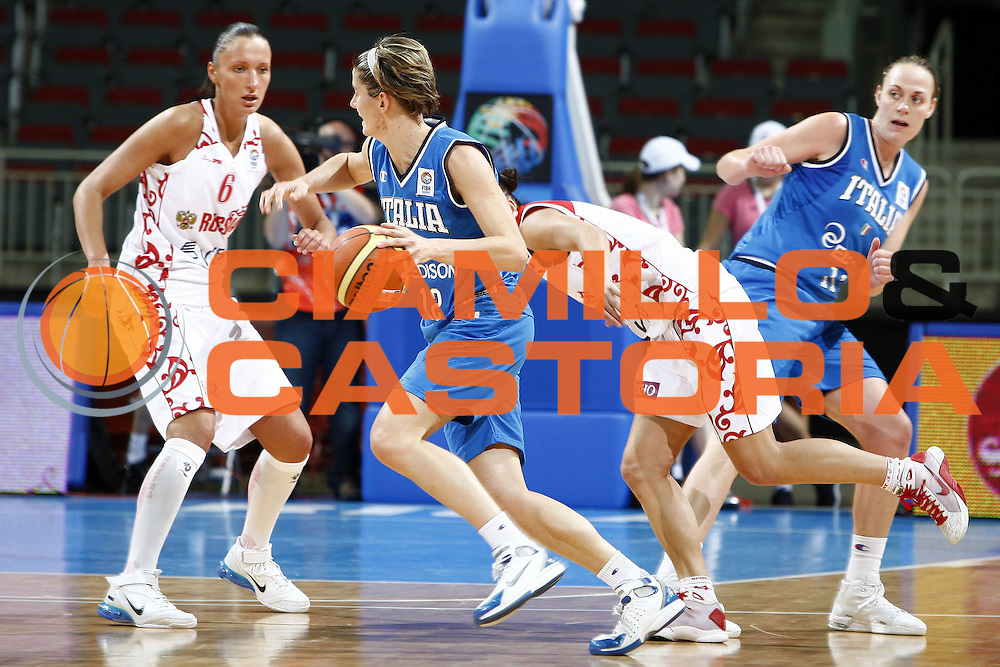DESCRIZIONE : Riga Latvia Lettonia Eurobasket Women 2009 Qualifying Round Russia Italia Russia Italy<br /> GIOCATORE : Raffaella Masciadri<br /> SQUADRA : Italia Italy<br /> EVENTO : Eurobasket Women 2009 Campionati Europei Donne 2009 <br /> GARA : Russia Italia Russia Italy<br /> DATA : 14/06/2009 <br /> CATEGORIA : palleggio<br /> SPORT : Pallacanestro <br /> AUTORE : Agenzia Ciamillo-Castoria/E.Castoria