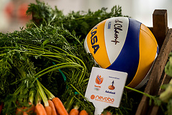 28-03-2018 NED: Kickstart Food van Rabobank, Utrecht<br /> A clever mix of the tastiest seasonal vegetables for the sports public, coming from Dutch local companies. That is the core of the new food program that enables Rabobank and the Nevobo at the Moestuin in Utrecht / Volleyball and vegetables items