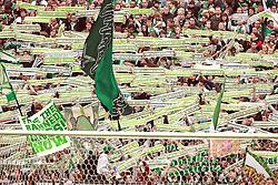 08.05.2010, Weserstadion, Bremen, GER, FBL 09 10, Werder Bremen vs Hamburger SV (HSV), im Bild Fans Jubeln mit Ihren Schaals. EXPA Pictures © 2010, PhotoCredit: EXPA/ nph/  Arend / SPORTIDA PHOTO AGENCY