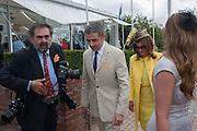 ROWAN ATKINSON; SUNETRA ATKINSON, Ladies Day, Glorious Goodwood. Goodwood. August 2, 2012