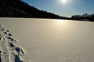 Secluded Frozen, Cross-Country Ski Lake
