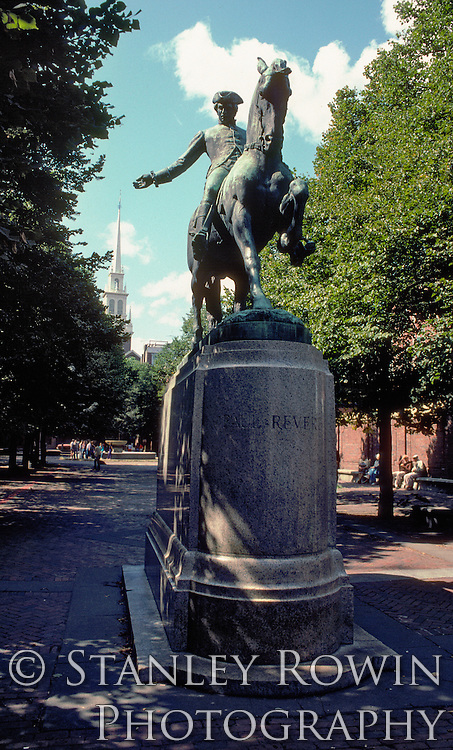 Paul Revere Statue. Boston, MA, North End