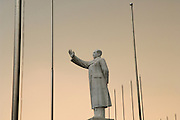 CHINA; Sichuan Province.Chengdu.Statue of Chairman Mao Tse Tung Statue of Mao presides over central Chengdu